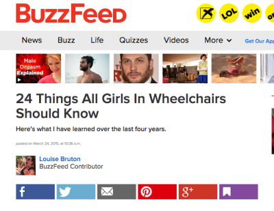24 Things All Girls In Wheelchairs Should Know