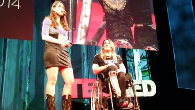 Appearing at TEDMed 2014 with Sophie de Oliveira de Barata who designed my fake leg